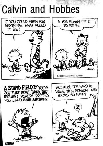site web strip comics hobbes featuring Calvin